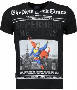 Local Fanatic SuperHero Returns - T-shirt - Zwart