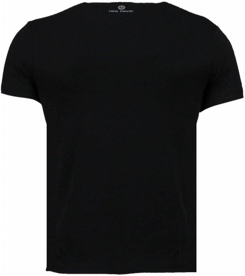 Local Fanatic One Dollar Eye - T-shirt - Zwart