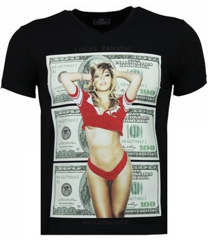 Local Fanatic Golddigger Dollar - T-shirt - Zwart