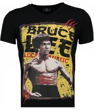 Local Fanatic Bruce Lee Hunter - T-shirt - Zwart