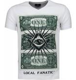 Local Fanatic One Dollar Eye - T-shirt - Wit