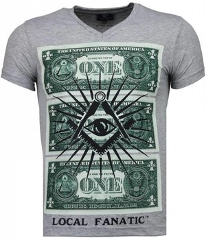 Local Fanatic One Dollar Eye - T-shirt - Grijs
