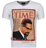 Local Fanatic Malcolm X - T-shirt - Wit