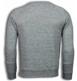 Enos Basic Fit Crewneck- Sweater - Grijs