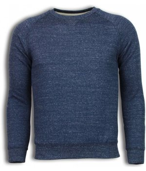 Enos Basic Fit Crewneck - Sweater - Navy