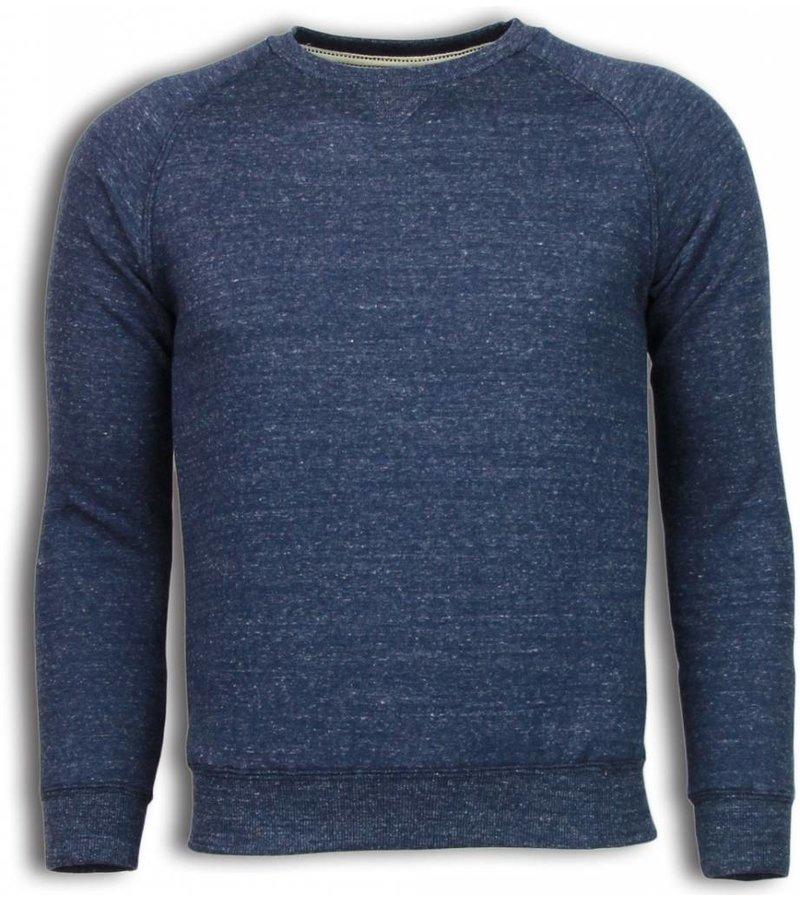 Enos Basic Fit Crewneck - Sweater - Navy