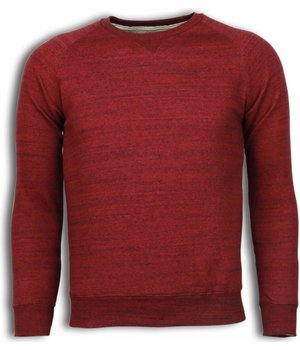 Enos Basic Fit Crewneck- Sweater - Bordeaux
