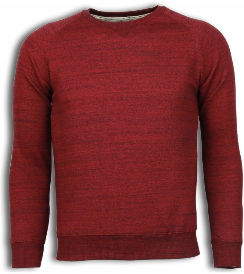 Enos Basic Fit Crewneck - Sweater - Bordeaux