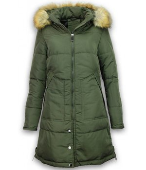 Adrexx Winterjassen - Dames Winterjas - Parka A Style - Groen