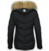 Milan Ferronetti Bontjassen - Dames Winterjas Kort - Basic Fit Exclusive - Zwart