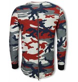 Uniplay Army Shirt Zipped Back - Long Fit Sweater - Camo