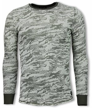 Uniplay Army Look Shirt - Long Fit Sweater - Groen