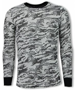 Uniplay Army Look Shirt - Long Fit Sweater - Zwart