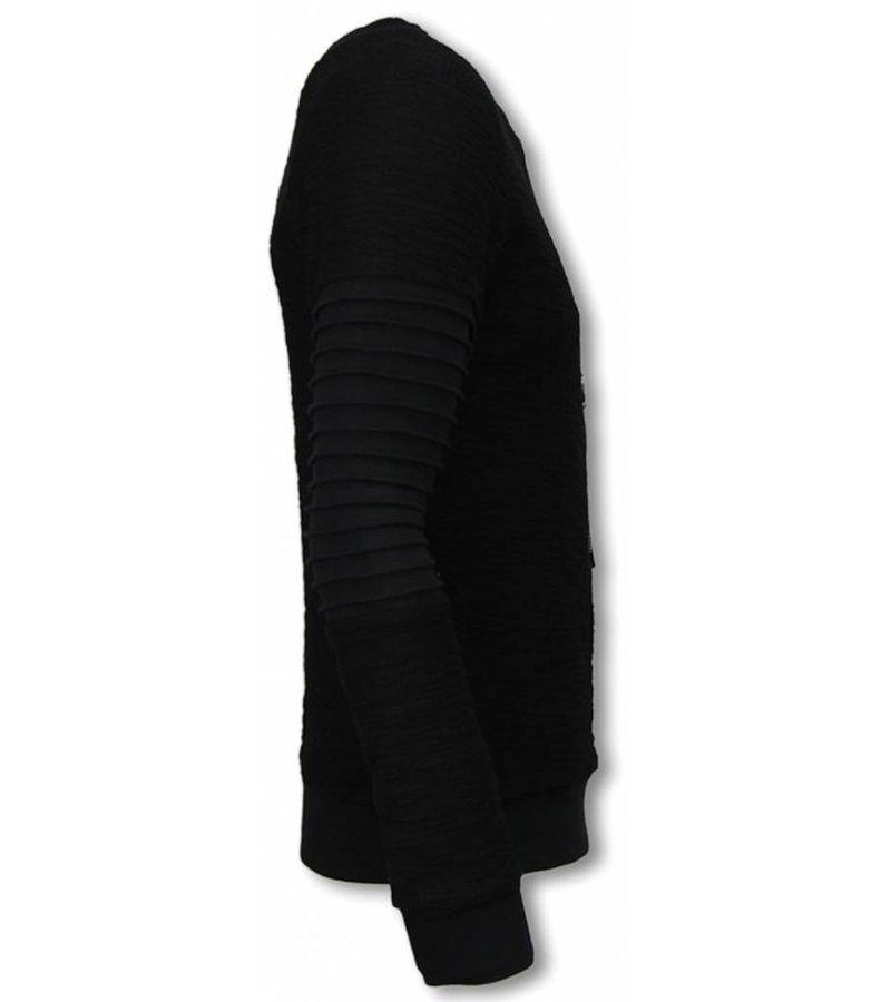John H Ribbel Arm met Kevlar Pocket - Sweater - Zwart