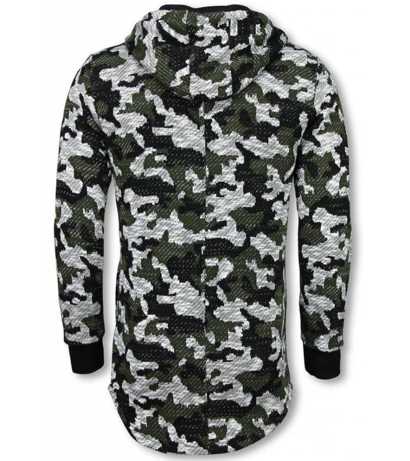 Uniplay Army Vest Camouflage - Long Fit Sweater - Groen