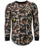 John H 23th US Army Camouflage Shirt - Long Fit Sweater - Bruin