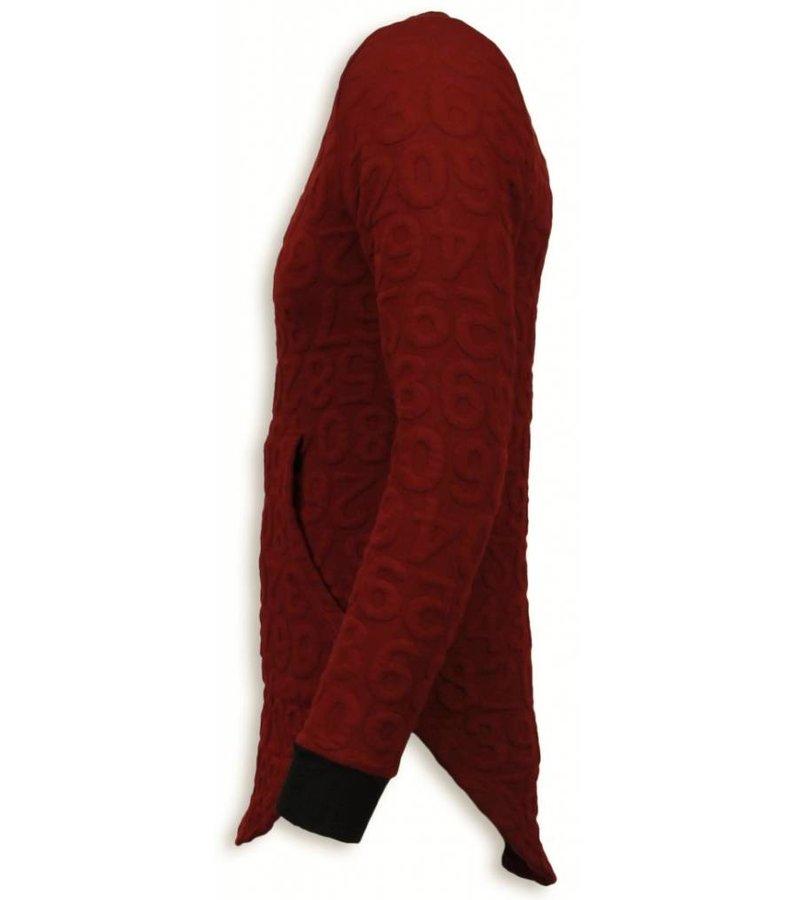 John H 3D Numbered Pocket - Long Fit - Rood