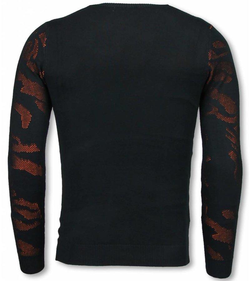 John H 3D Camouflage Patroon Trui - Neon Pullover - Oranje