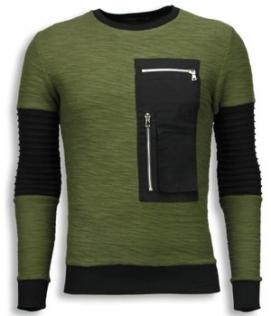 John H Ribbel Arm met Kevlar Pocket - Sweater - Groen