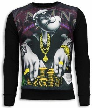 Local Fanatic Casino Popeye - Sweater - Zwart