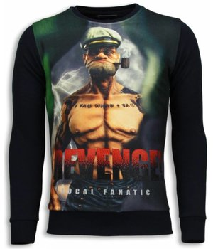 Local Fanatic Popeye Revenge - Sweater - Zwart