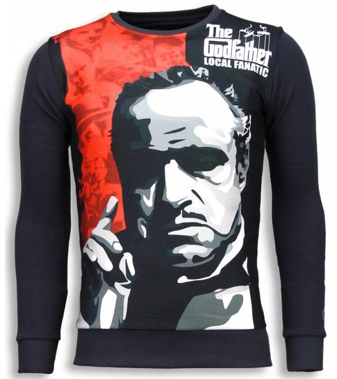 Local Fanatic Padrino - The Godfather - Sweater - Donker Grijs