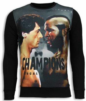 Local Fanatic Rocky III - Sweater - Zwart