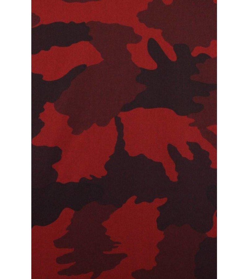 Gentile Bellini Italiaanse Overhemden - Slim Fit Overhemd - Blouse Classic Army Pattern - Bordeaux