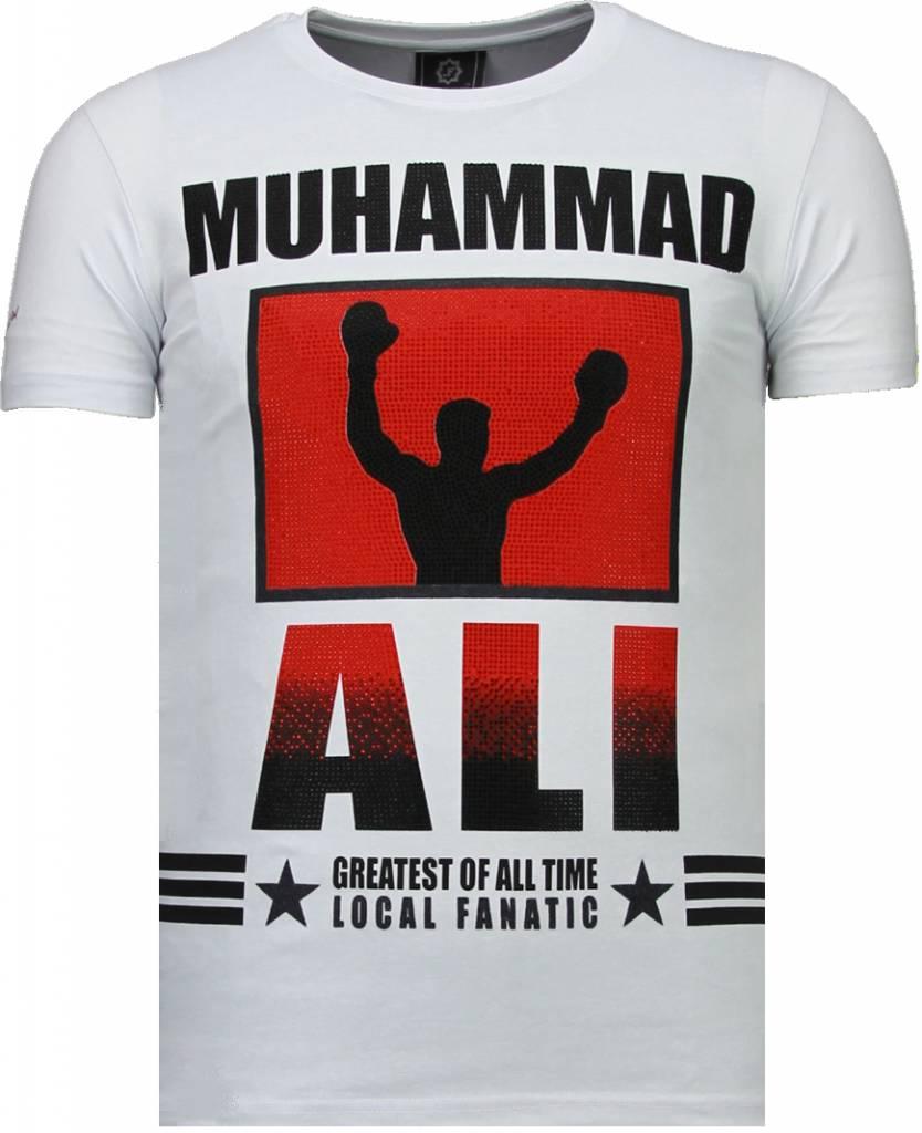 Muhammad Ali - Rhinestone T-shirt - Wit