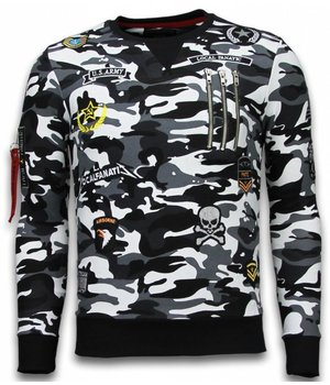 Local Fanatic Exclusief Camo Embriordry - Sweater Patches - Zwart