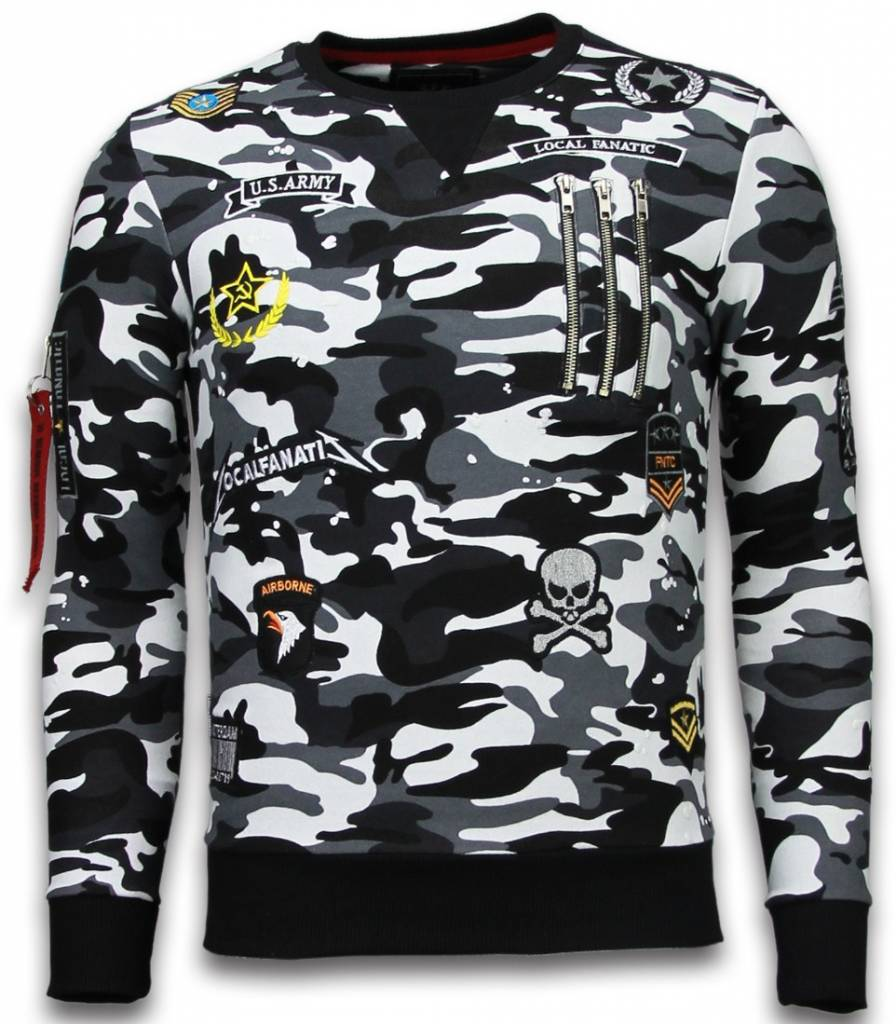 Exclusief Camo Embroidery - Sweater Patches - Zwart