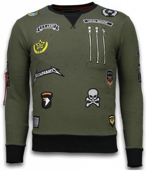 Local Fanatic Exclusief Basic Embriordry - Sweater Patches - Groen