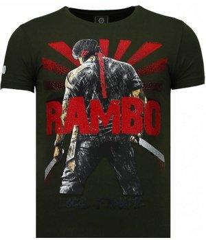 Local Fanatic Rambo Shine - Rhinestone T-shirt - Groen