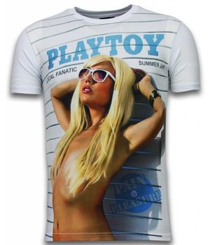 Local Fanatic Playtoy Summer Jam - Digital Rhinestone T-shirt - Wit