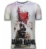 Local Fanatic Bang Bang Marilyn - Digital Rhinestone T-shirt - Wit