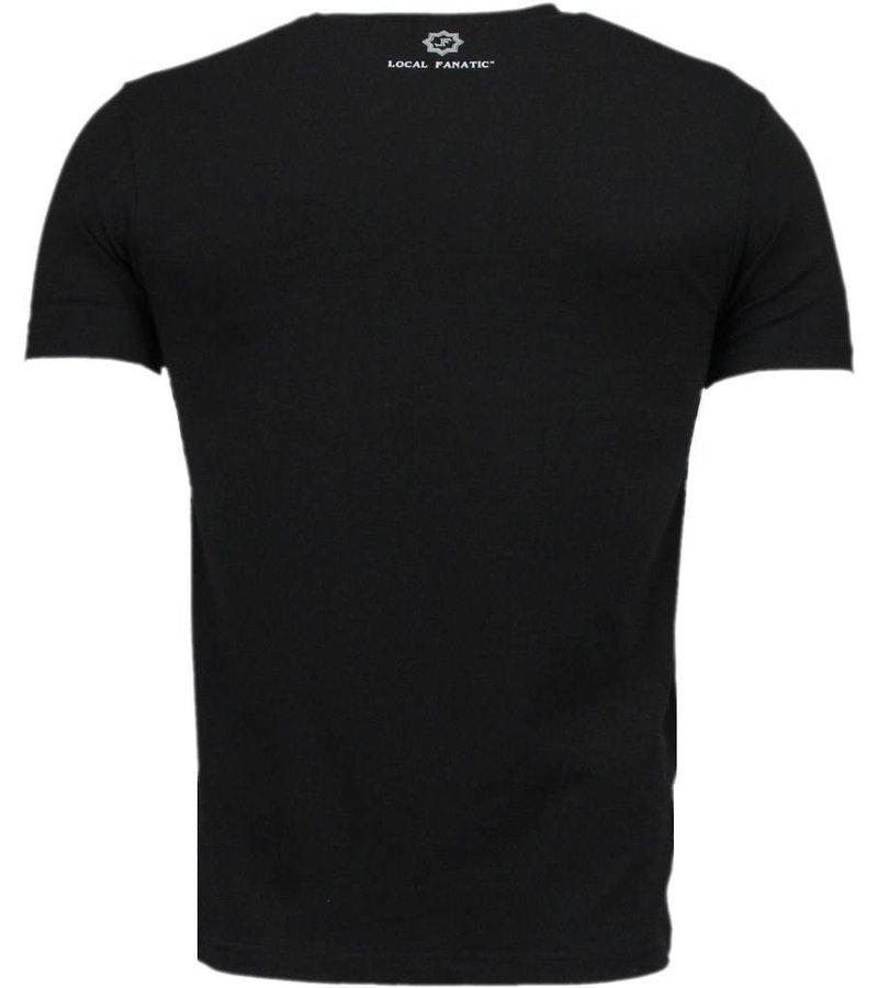 Local Fanatic The Notorious Conor McGregor - Digital Rhinestone T-shirt - Zwart