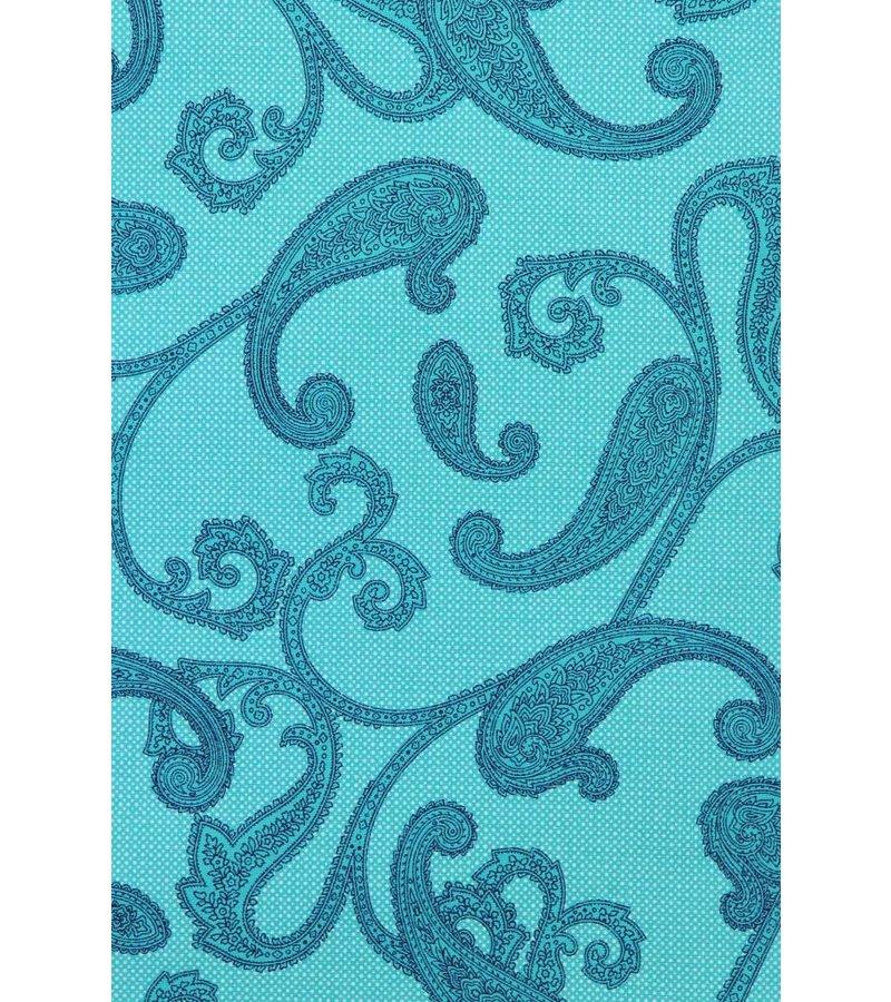 Gentile Bellini Italiaanse Overhemden - Slim Fit Overhemd - Blouse Baroque Pattern - Turqoise