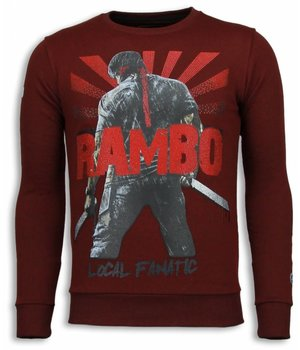 Local Fanatic Rambo - Rhinestone Sweater - Bordeaux