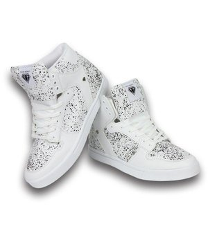 Cash Money Heren Schoenen - Heren Sneaker High - Wit