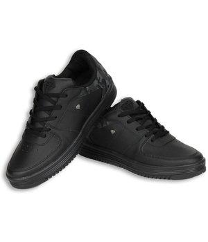 Cash Money Heren Schoenen - Heren Sneaker Low Camouflage Back - Zwart