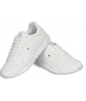 Cash M Heren Schoenen - Heren Sneaker Low Runners - Wit