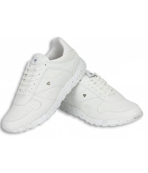 Cash Money Heren Schoenen - Heren Sneaker Low Runners - Wit