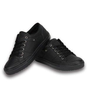 Cash Money Heren Schoenen - Heren Sneaker Low - Stunter Full Black - Zwart