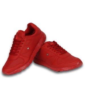 Cash M Heren Schoenen - Heren Sneaker Low Runners - Rood