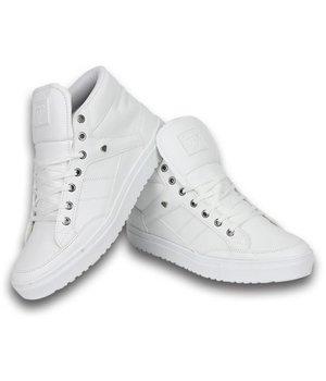 Cash M Heren Schoenen - Heren Sneaker Mid High - Wit