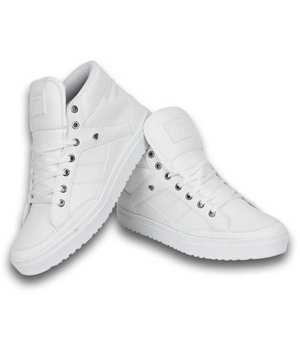 Cash Money Heren Schoenen - Heren Sneaker Mid High - Wit