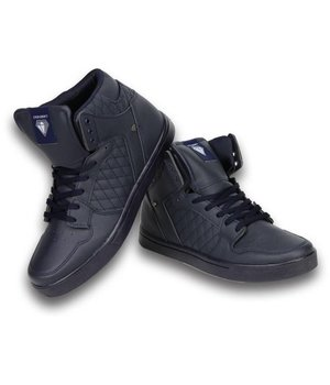 Cash Money Heren Schoenen - Heren Sneaker High - Blauw