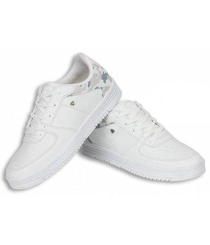 Cash M Heren Schoenen - Heren Sneaker Low Camouflage Back - Wit