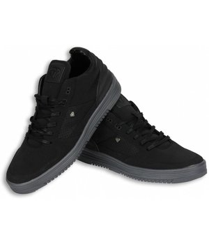 Cash Money Heren Schoenen - Heren Sneaker Mid High - Zwart