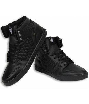 Cash M Heren Schoenen - Heren Sneaker High - Jailor Full Black Pu